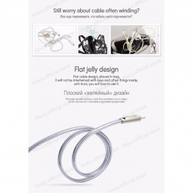 HOCO U9 Jelly Kabel Charger Lightning Ziny Alloy 1.2 Meter - Silver - 8