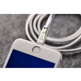 HOCO U9 Jelly Kabel Charger Lightning Ziny Alloy 1.2 Meter - Silver - 10