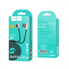 Hoco Kabel Charger Type-C L Shape for Smartphone - U42 - Black - 7