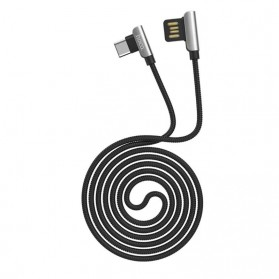 Hoco Kabel Charger Micro USB L Shape for Smartphone - U42 - Black - 6