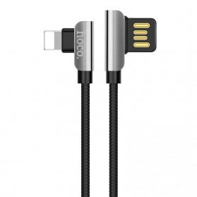 Hoco Kabel Charger Lightning L Shape for iPhone - U42 - Black