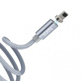 Hoco Kabel Charger Lightning Magnetic Adsorption - U40A - Gray - 3