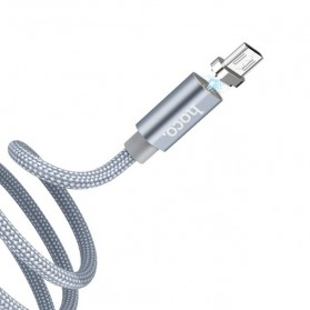 Hoco Kabel Charger Micro USB Magnetic Adsorption - U40A - Gray - 3