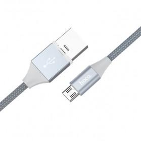Hoco Kabel Charger Micro USB Magnetic Adsorption - U40B - Gray - 4