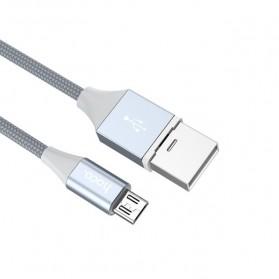 Hoco Kabel Charger Micro USB Magnetic Adsorption - U40B - Gray - 5