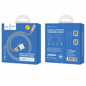Hoco Kabel Charger Micro USB Magnetic Adsorption - U40B - Gray - 9