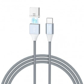 Hoco Kabel Charger USB Type C Magnetic Adsorption - U40B - Gray