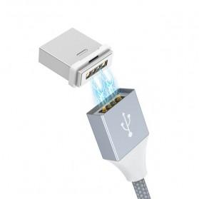 Hoco Kabel Charger USB Type C Magnetic Adsorption - U40B - Gray - 2