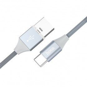 Hoco Kabel Charger USB Type C Magnetic Adsorption - U40B - Gray - 4