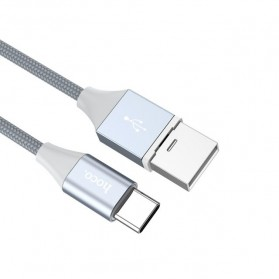 Hoco Kabel Charger USB Type C Magnetic Adsorption - U40B - Gray - 5