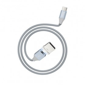 Hoco Kabel Charger USB Type C Magnetic Adsorption - U40B - Gray - 6