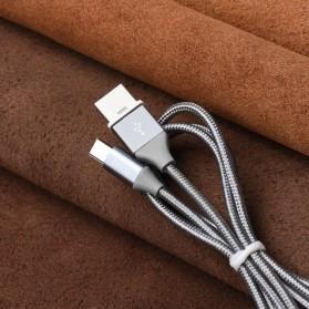 Hoco Kabel Charger USB Type C Magnetic Adsorption - U40B - Gray - 7