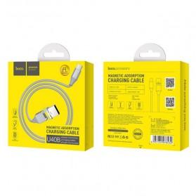 Hoco Kabel Charger USB Type C Magnetic Adsorption - U40B - Gray - 9