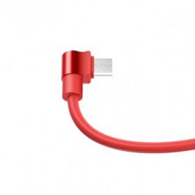 Hoco Long Roam Kabel Charger Micro USB L Shape for Smartphone - U37 - Black - 3