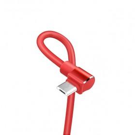 Hoco Long Roam Kabel Charger Micro USB L Shape for Smartphone - U37 - Black - 4