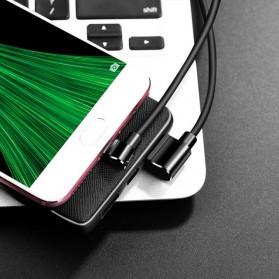 Hoco Long Roam Kabel Charger Micro USB L Shape for Smartphone - U37 - Black - 5