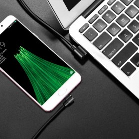 Hoco Long Roam Kabel Charger Micro USB L Shape for Smartphone - U37 - Black - 6