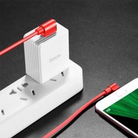 Hoco Long Roam Kabel Charger Micro USB L Shape for Smartphone - U37 - Black - 7