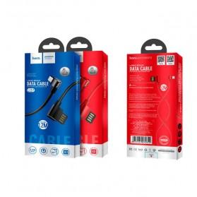 Hoco Long Roam Kabel Charger Micro USB L Shape for Smartphone - U37 - Black - 8