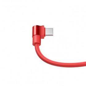 Hoco Long Roam Kabel Charger Type-C L Shape for Smartphone - U37 - Black - 3