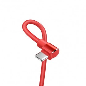 Hoco Long Roam Kabel Charger Type-C L Shape for Smartphone - U37 - Black - 4