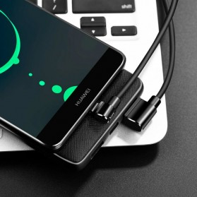 Hoco Long Roam Kabel Charger Type-C L Shape for Smartphone - U37 - Black - 5