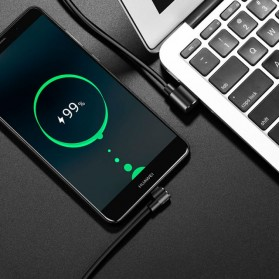 Hoco Long Roam Kabel Charger Type-C L Shape for Smartphone - U37 - Black - 6