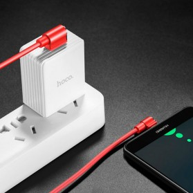 Hoco Long Roam Kabel Charger Type-C L Shape for Smartphone - U37 - Black - 7