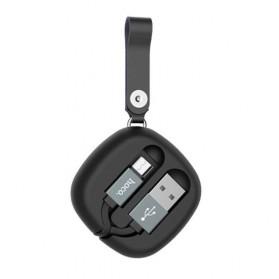 Hoco Retractable Kabel Charger Micro USB - U33 - Black