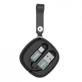 Hoco Retractable Kabel Charger USB Type C - U33 - Black