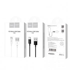 Hoco X23 Skilled Charging Data Micro USB 1m - Black - 5