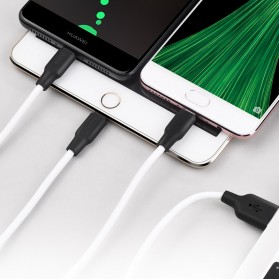 Hoco X21 3 in 1 Lightning Micro USB and USB Type C Charging Cable 1.2m - Black/Red - 4