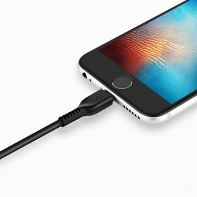Hoco X20 Flash Lightning Charging Data Sync Cable 1m - Black - 3