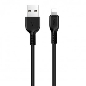 Hoco X20 Flash Lightning Charging Data Sync Cable 2m - Black