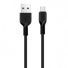 Hoco X20 Flash Micro USB Charging Data Sync Cable 2m - Black - 1