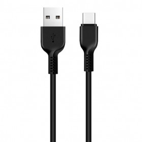 Hoco X20 Flash USB Type C Charging Data Sync Cable 1m - Black