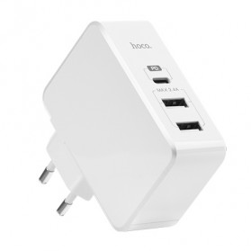 HOCO Xpress Charger USB 3 Port USB Type C PD Charging - C32 - White