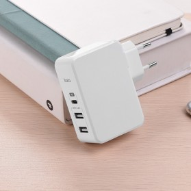HOCO Xpress Charger USB 3 Port USB Type C PD Charging - C32 - White - 6