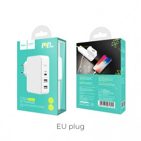 HOCO Xpress Charger USB 3 Port USB Type C PD Charging - C32 - White - 10
