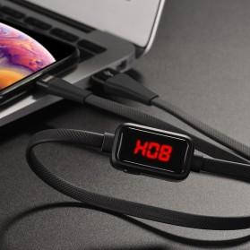 HOCO Kabel Charger Lightning 2.4A 1.2 Meter with Voltage Meter - S4 - Black - 6