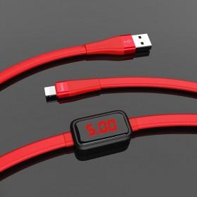 HOCO Kabel Charger USB Type C 2.4A 1.2 Meter with Voltage Meter - S4 - Black - 7