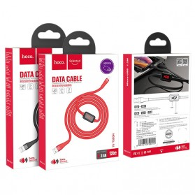 HOCO Kabel Charger USB Type C 2.4A 1.2 Meter with Voltage Meter - S4 - Black - 10