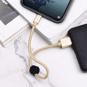 HOCO Premium Kabel Charger Micro USB 2.4A 25cm - X35 - Black - 4