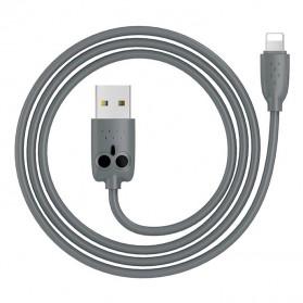 HOCO Kikibelief Kabel Charger Micro USB 2.4A 1 Meter - KX1 - Gray
