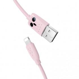 HOCO Kikibelief Kabel Charger Micro USB 2.4A 1 Meter - KX1 - Gray - 3