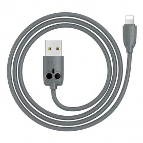 HOCO Kikibelief Kabel Charger USB Type C 2.4A 1 Meter - KX1 - Gray