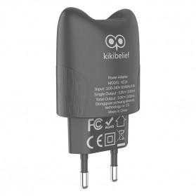 HOCO Kikibelief Charger USB 2 Port 2.1A EU Plug - KC1A - Gray - 2