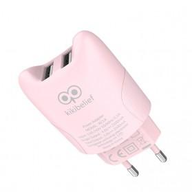 HOCO Kikibelief Charger USB 2 Port 2.1A EU Plug - KC1A - Gray - 3