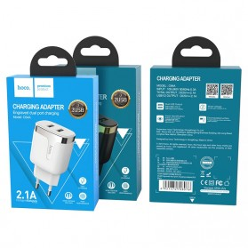 HOCO Charger USB 2 Port 2.1A EU Plug - C64A - Black - 5
