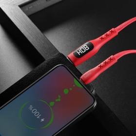 HOCO Kabel Charger USB Type C 3.0A 1.2 Meter with Voltage Meter - S6 - Black - 8